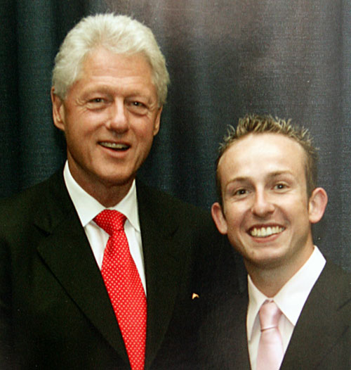 Connor Keppel with Bill Clinton