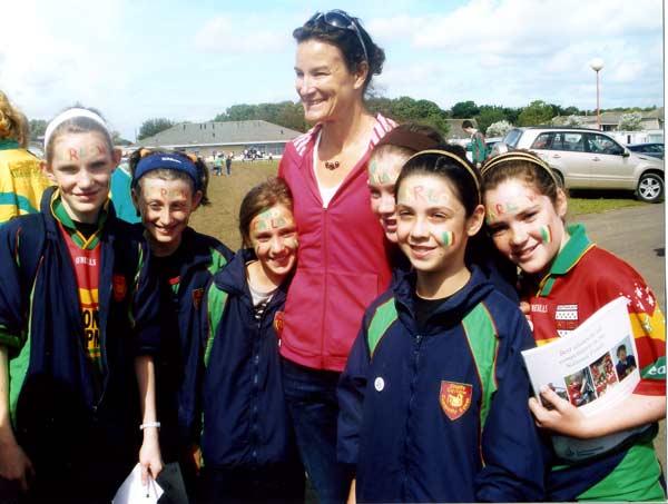 Sonia O'Sullivan with Ballon Athletes