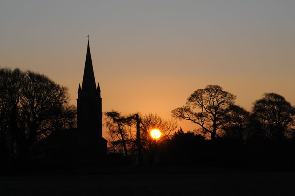 Aghade church at dawn