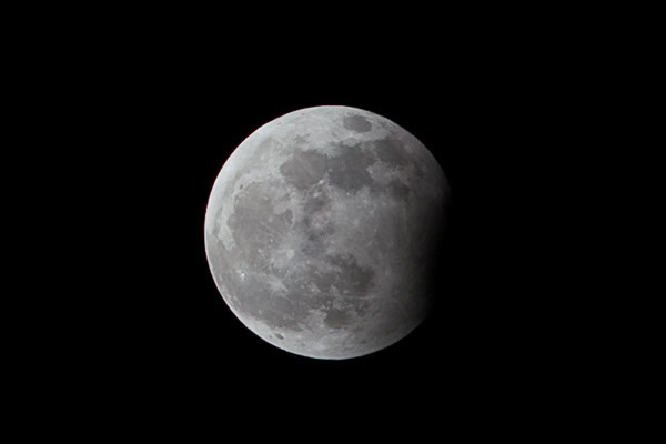 Partial lunar eclipse on New Years Eve 2009