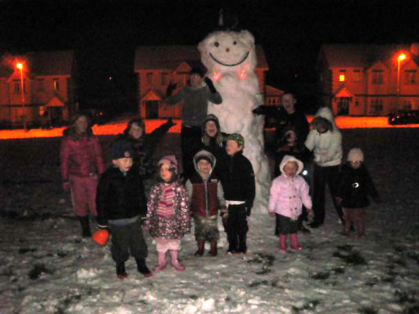 Giant snowman at the Oaks