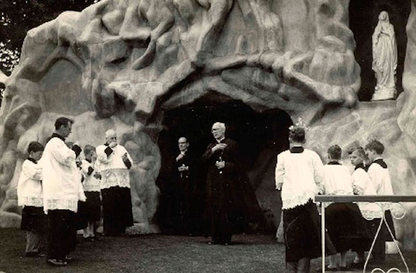 Blessing the Grotto